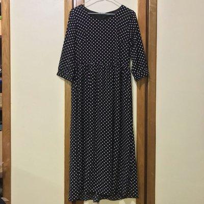 PAZZO 復古圓點長洋裝 Retro Polka Dot Dress