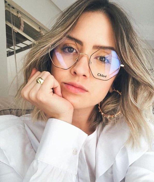Chloe 海報主打框 玳瑁色六邊形金屬光學眼鏡 金色鏡腳 CE2134 757 義大利製 公司貨 2134 創新時尚
