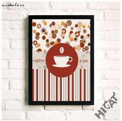 尼克卡樂斯~咖啡時光掛畫 coffee time  Loft風掛畫 北歐風掛畫  咖啡廳擺飾 客廳掛畫 酒吧掛飾