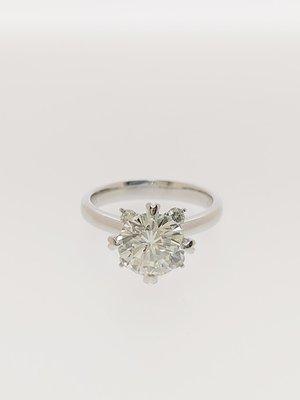 【益成當舖】流當品 白K2.09克拉鑽石戒 附鑑定證書 特價出清 買到賺到