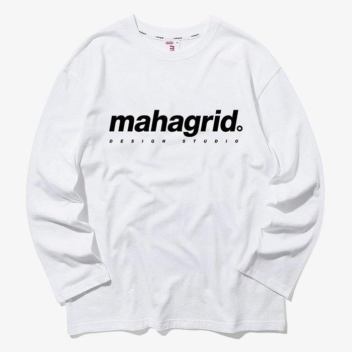 【QUEST】MAHAGRID - ORIGIN LOGO LS TEE 基本LOGO 薄長T 白