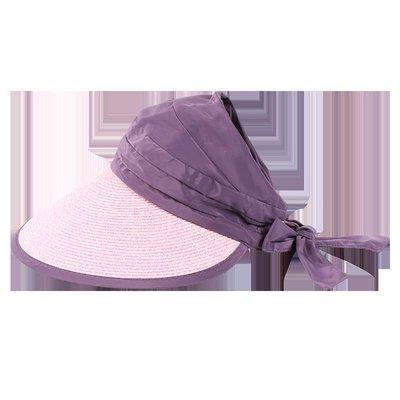 熱賣新品-遮陽帽子女 夏天出游防曬太陽帽韓版可折疊大沿沙灘帽草帽空頂帽#遮陽帽#防曬帽