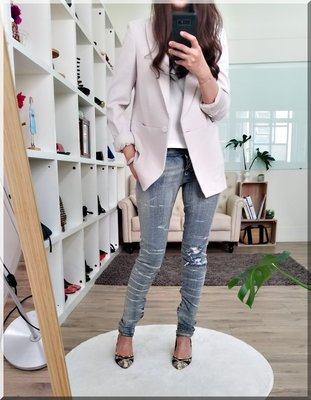balmain 大長腿 窄版牛仔褲 正品 特價  40 法國製
