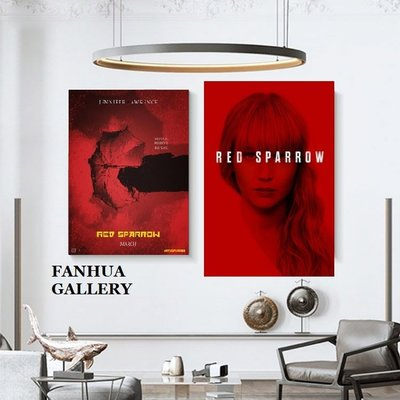 C - R - A - Z - Y - T - O - W - N 紅雀Red Sparrow電影海報封面掛畫油畫布掛畫
