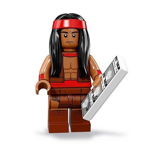 現貨【LEGO 樂高】2018最新 蝙蝠俠電影2 人偶包抽抽樂 人偶系列 71020 | #15 阿帕契酋長+圖卡