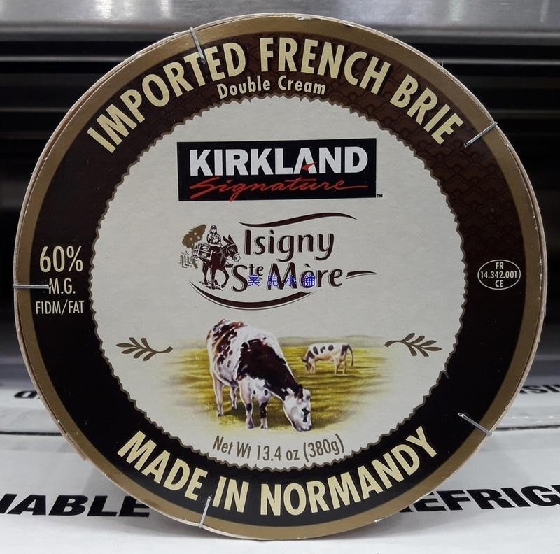 美兒小舖COSTCO好市多代購~KIRKLAND 布瑞乾酪-採法國諾曼地牛奶製成(380g/盒)