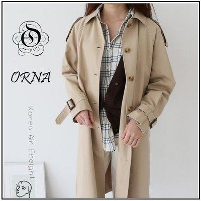 【ORNA 爾瑞菈】現貨 正韓  風衣外套 韓國空運 韓國製造 英格蘭風長版夾克 大衣