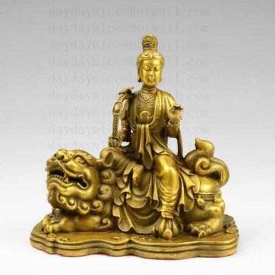 黃銅 佛像 文殊菩薩 四大菩薩 文殊師利