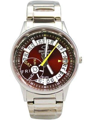 【卡漫迷】 Snoopy 手錶 日期功能 紅 L ㊣版 女錶 日曆 不銹鋼 強化水晶玻璃 史努比 對錶 史奴比 七折出清
