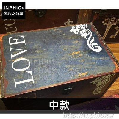 INPHIC-收納家居做舊換鞋凳整理道具擺設裝飾復古歐美-中款_bARX