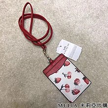 Melia 米莉亞代購 COACH 2019ss 識別證套 證件套 悠遊卡套 F23679 基本款 白色 草莓圖案