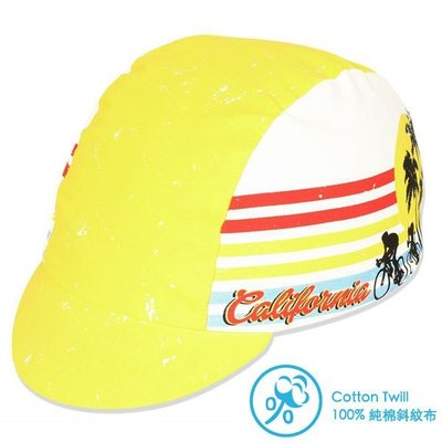 【行輪】小帽 PACE 純棉 California 美國進口 公路帽 15-0625 單速車