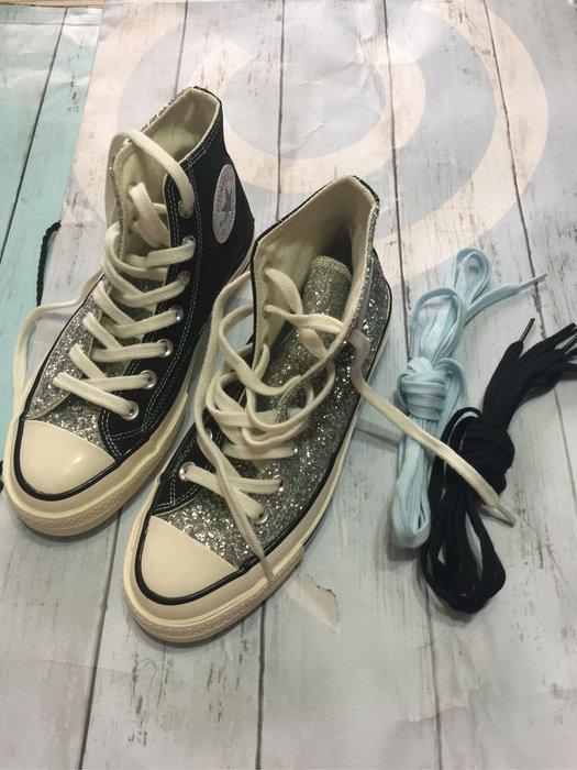 Converse Chiara Ferragni 聯名銀色高筒球鞋37號