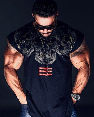 健身服 健身馬甲 速乾服 運動服 跑步服 肌肉衫兄弟坎肩無袖男運動t恤器械訓練健身緊身衣蝙蝠袖男體恤夏