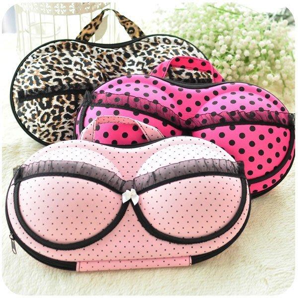 5Cgo 【鴿樓】會員優惠 17214237857 可愛內衣收納盒 文胸內胸罩整理包 旅行便攜 內衣(二個)
