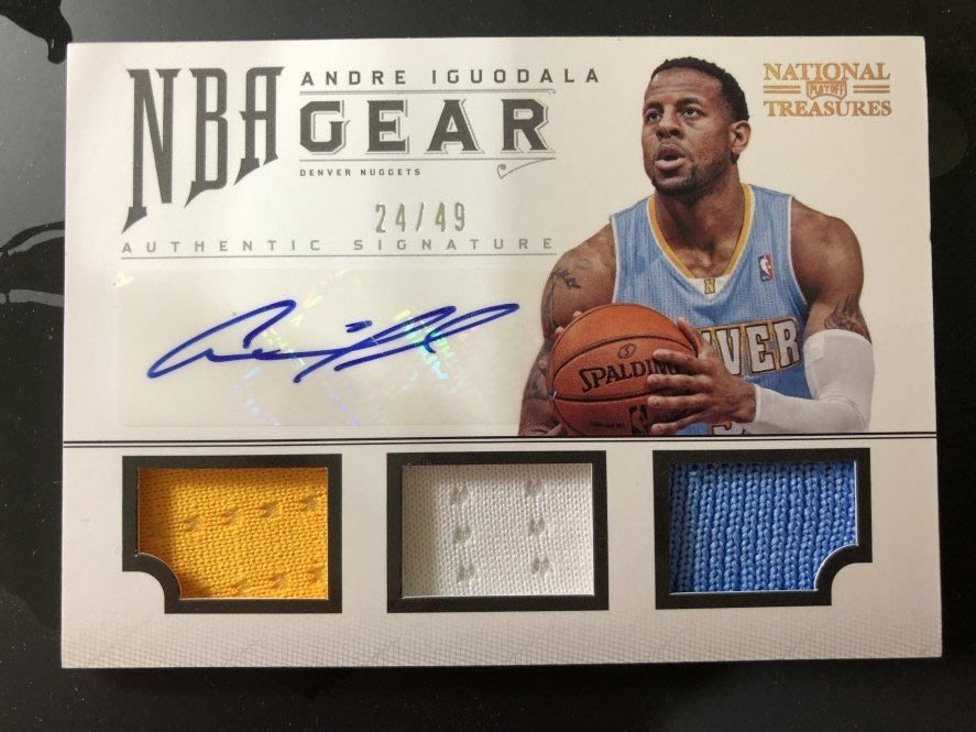 2012-13 Panini National Treasures Andre Iguodala 親筆簽名球衣卡 /49