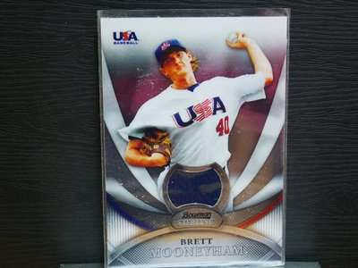 Brett Mooneyham 2010 Bowman Sterling USA Relic
