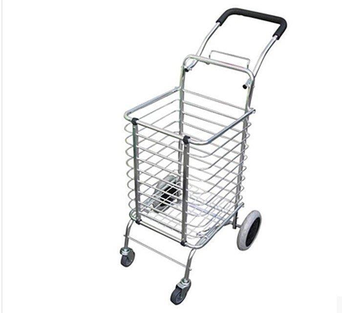【優上精品】4輪車可折疊鋁合金便攜爬樓梯 買菜車手拉車行李車推車拖車(Z-P3172)