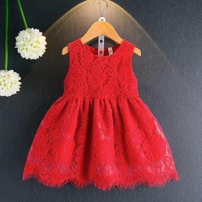 【Miss Caramel】女童無袖洋裝 女童短袖洋裝 女童蕾絲洋裝 兒童洋裝 女童夏裝 兒童夏裝