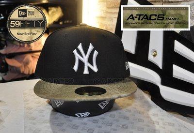 New Era MLB NY Yankees A-Tacs 59Fifty 紐約洋基聯名ATACS戰鬥品牌全封尺寸帽