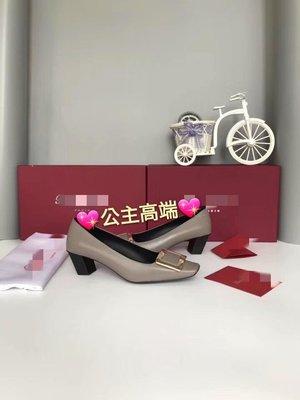 ❤公主高端❤經典 方釦 金扣 胎牛皮 中跟鞋 方頭包鞋 舒適 透氣 完美 空姐最愛??義大利進口真皮大底