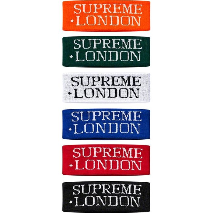 【紐約范特西】預購 Supreme FW19 International Headband 頭帶