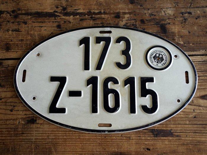 中古正品 德國汽車大牌 歐盟車牌( 鋁牌) 1980年代 出口車輛專用牌照 173