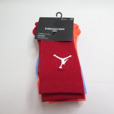 NIKE U J EVERYDAY MAX CREW 三雙入 運動襪 SX5545911 紅/橘/藍【iSport】