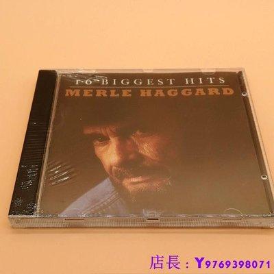 全新CD音樂 音樂成就令全世界人為之感嘆 Merle Haggard: 16 Biggest Hits