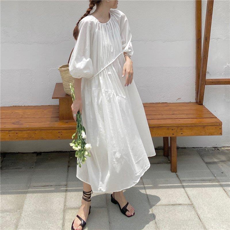 夏娃 SHINY BABY* 復古法式長款後綁帶兩件套連衣裙 2色 [D419BB135]