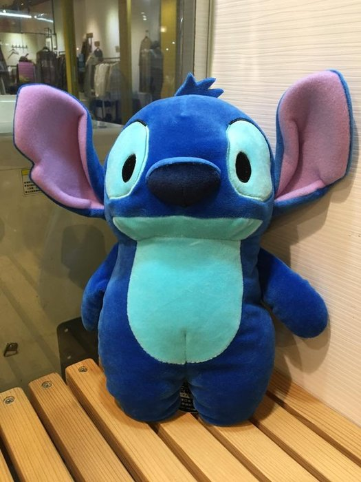 阿虎會社【D - 928】正版 迪士尼 星際寶貝 史迪奇 藍色 花生造型 麻糬 約30公分 現貨
