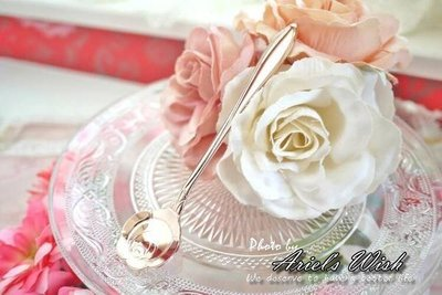 Ariels Wish-夢幻春天櫻花季-古典精緻玫瑰金色櫻花湯匙&玫瑰金色玫瑰花湯匙---日本製---兩款現貨各一