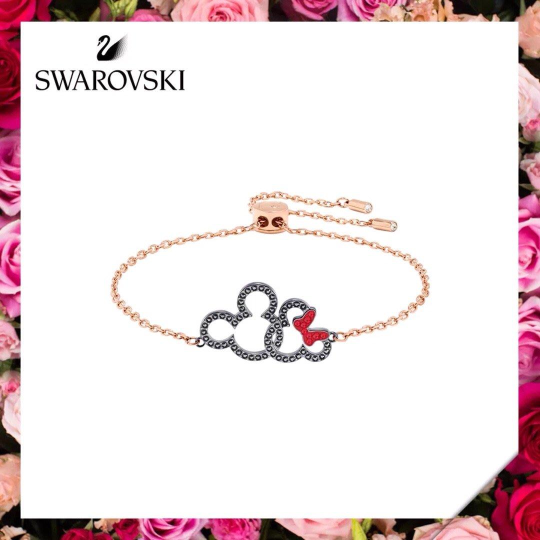 美國大媽代購 SWAROVSKI 施華洛世奇 米奇水晶手鍊 優雅時尚手鍊 歐美代購