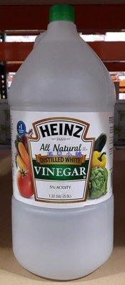 美兒小舖COSTCO好市多代購~HEINZ 蒸餾白醋(5公升/瓶)