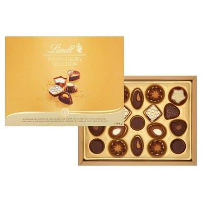 [要預購] 英國代購 瑞士LINDT 奢華系列綜合巧克力 195g