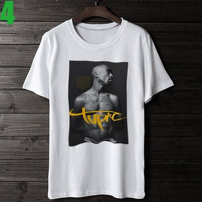 2Pac【吐派克】短袖嘻哈饒舌(HIP-HOP RAP)歌手T恤(共2種顏色 男版.女版皆有) 購買多件多優惠【賣場二】