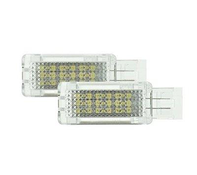 2x汽車門燈 迎賓燈 賓士benz W203 R171 W209 W240 LED 白光 解碼license lamp