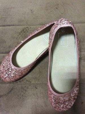 二手 拍賣品牌172巷 粉色亮片娃娃鞋