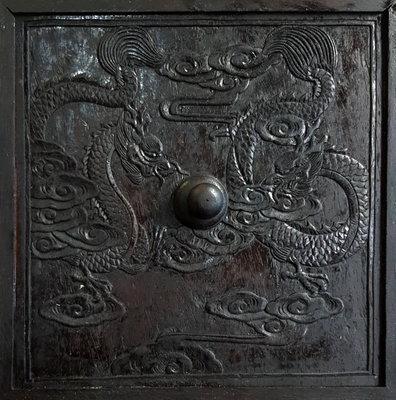 鳳崗文創---{木雕65}----老件—紫檀—八步床鳥籠--含提把尺寸約:24.7 x 20.5 x 44.3 cm