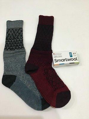 美國官網當季現貨77趴羊毛含量  女款SmartWool Snowflake Flurry  輕厚底美麗若羊毛保暖襪