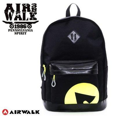 『Mr830』Airwalk 亮皮拼接螢光撞色後背包