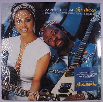 《全新美版單曲黑膠》Wyclef Jean – Two Wrongs (Don't Make It Right)