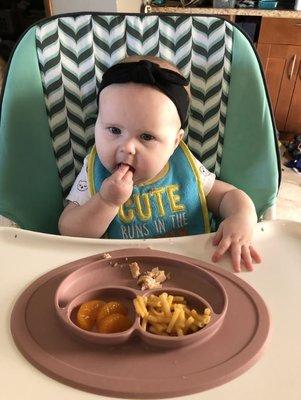 【雷恩的美國小舖】美國ezpz mini mat 矽膠防滑餐盤 兒童餐具 學習餐具 防滑 碗盤 分隔餐盤