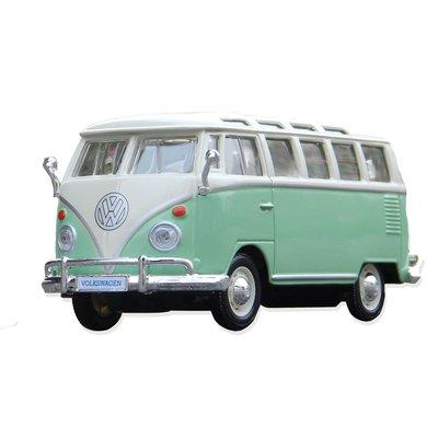 新風小鋪-美馳圖1 24大眾面包車復古巴士出租車 仿真合金汽車模型成人收藏