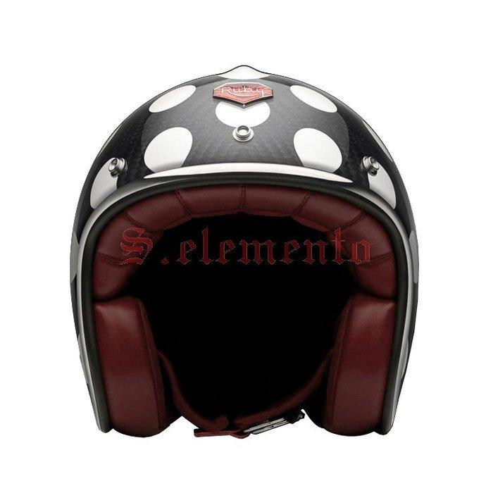 【預購優惠】Ateliers Ruby 安全帽 Pavillon ECE St Sulpice 碳纖維 3/4 復古帽