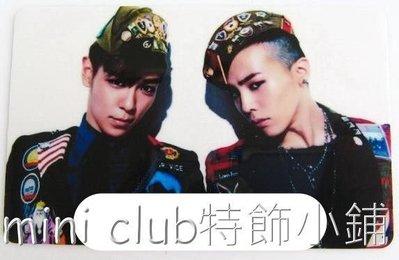 mini club特飾小鋪**全新韓國組合BIGBANG 權志龍 崔勝賢 八達通貼紙 卡貼 保護貼 $8/張 包郵**E