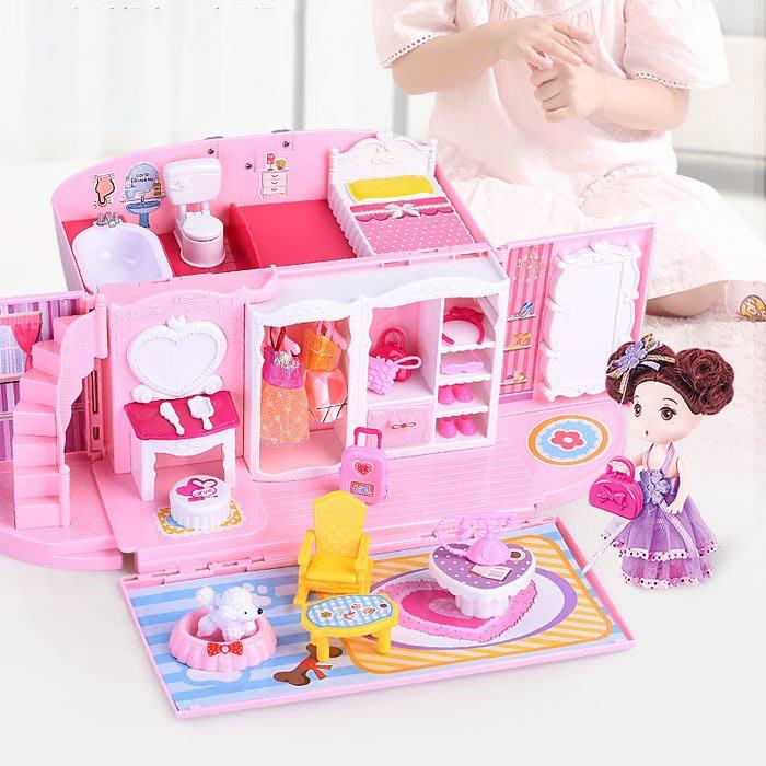 5Cgo【樂趣購】574118483216 兒童玩具夢幻手提包女孩公主城堡房子廚房玩具兒童過家家小孩生日禮物3-8歲店長