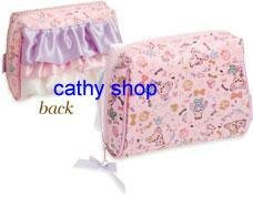 *凱西小舖*日本進口正版 SAN-X 粉紅皇冠豬收納/化妝包