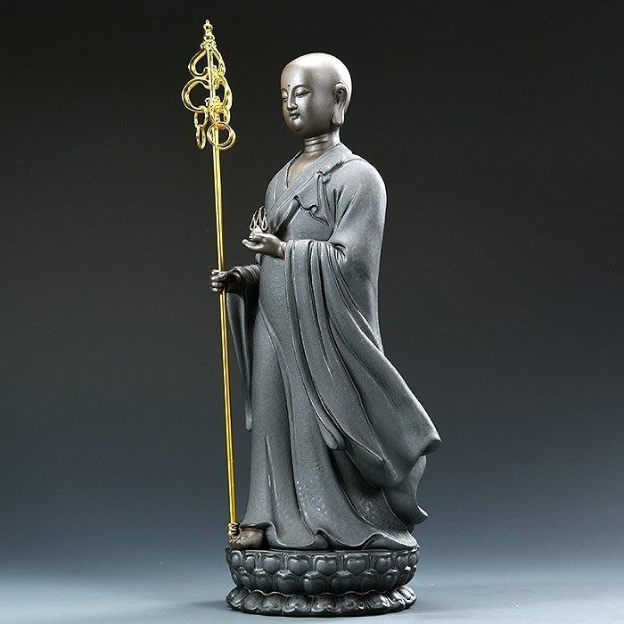 【睿智精品】陶瓷地藏王菩薩像 南無地藏王菩薩佛像 法像莊嚴(GA-5114)