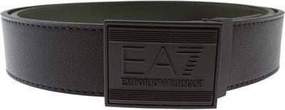 【IMPRESSION】】EMPORIO ARMANI 亞曼尼 EA7 經典LOGO 皮帶 黑綠 雙面 台中市